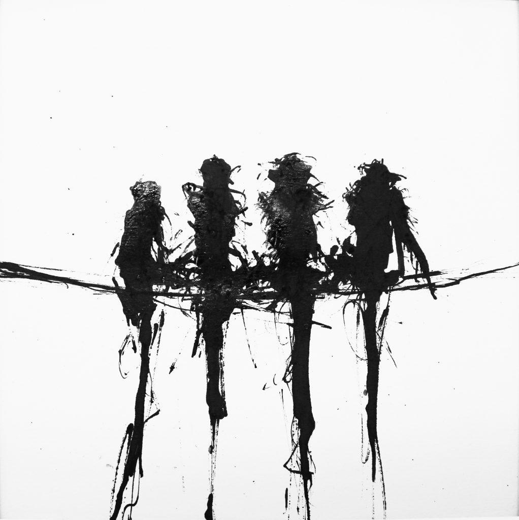 """2018 """"Nischumo"""" Ink on paper 20 x 20 cm"""