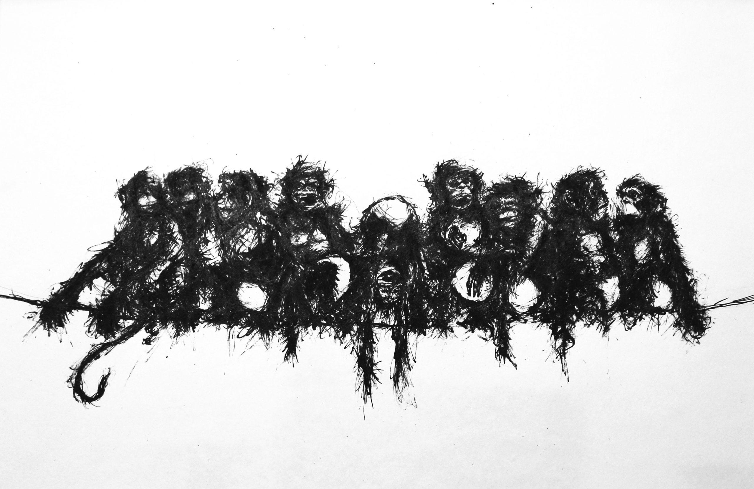 """2018 """"Nischumo"""" Ink on paper"""