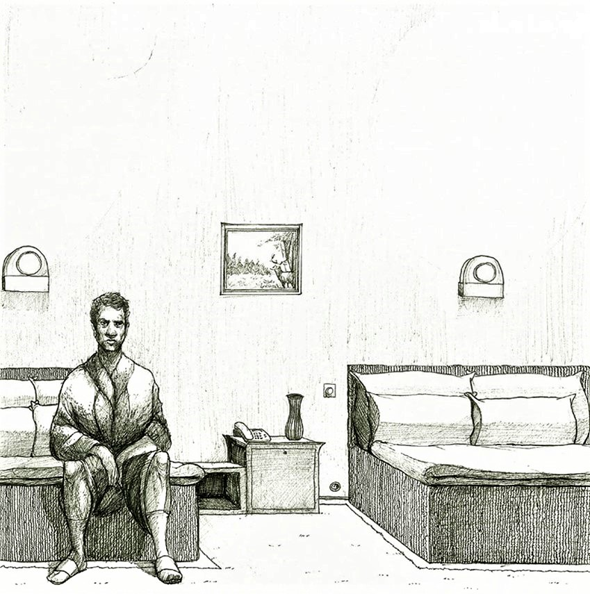 "2010 ""Single Serving"" Ink on Paper 20 x 20 cm"